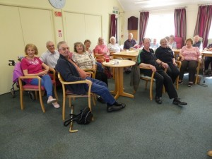 Members at a group meeting with visiting speakers at Cornmell Lea Community Centre in August 2018