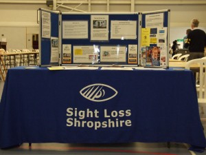 Sight Loss Shropshire display stand