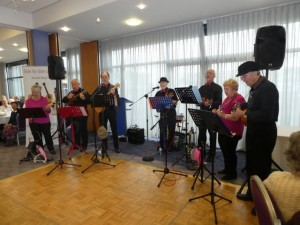 Picture of Side by Side Ukeleles playing at Winters Day Out 2019.