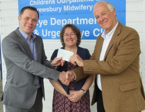 Cheque presentation to Eye Department