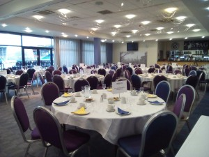 Picture of tables and chairs set out ready for Winter's Day Out